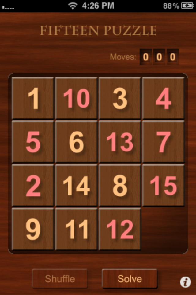 Screenshot i15-Puzzle